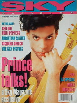<!--1991-10-->Sky magazine - Prince cover (October 1991)