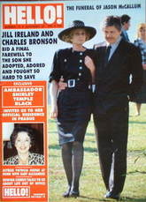 <!--1989-11-25-->Hello! magazine - Jill Ireland and Charles Bronson cover (