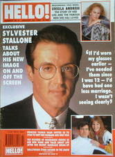 <!--1990-01-20-->Hello! magazine - Sylvester Stallone cover (20 January 199