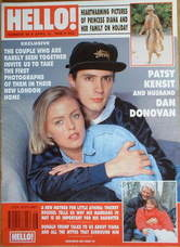 <!--1990-04-21-->Hello! magazine - Patsy Kensit and Dan Donovan cover (21 A
