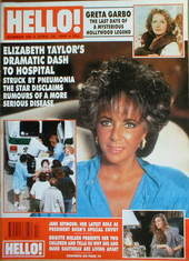 <!--1990-04-28-->Hello! magazine - Elizabeth Taylor cover (28 April 1990 -