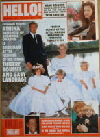 <!--1990-05-26-->Hello! magazine - Thierry Roussel wedding cover (26 May 1990 - Issue 104)