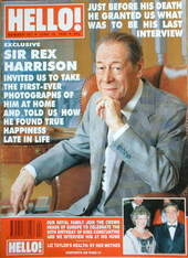 <!--1990-06-16-->Hello! magazine - Sir Rex Harrison cover (16 June 1990 - I