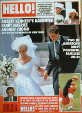 <!--1990-06-23-->Hello! magazine - Kerry Kennedy wedding cover (23 June 199