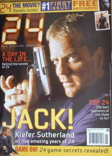 24 magazine - Kiefer Sutherland cover (May/June 2006 - Issue 1)