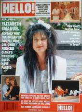 <!--1990-07-28-->Hello! magazine - Elizabeth Emanuel cover (28 July 1990 -