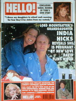 <!--1996-11-23-->Hello! magazine - India Hicks cover (23 November 1996 - Is