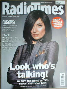 <!--2006-02-11-->Radio Times magazine - Davina McCall cover (11-17 February
