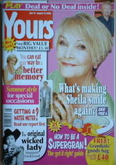Yours magazine - Sheila Hancock cover (19 July-15 August 2006)