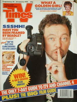 <!--1991-01-19-->TV Times magazine - Jeremy Beadle cover (19-25 January 199