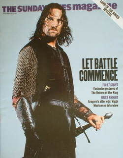 <!--2003-11-30-->The Sunday Times magazine - Viggo Mortensen cover (30 Nove