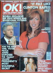 <!--1999-02-05-->OK! magazine - Paula Jones cover (5 February 1999 - Issue