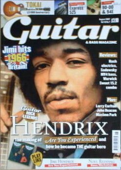 Guitar & Bass magazine - Jimi Hendrix cover (August 2007)