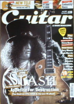 Guitar & Bass magazine - Slash cover (July 2007)