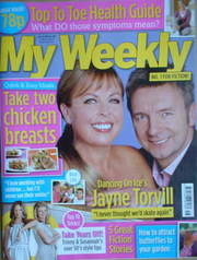 My Weekly magazine (19 April 2008 - Jayne Torvill & Christopher Dean cover)