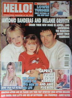 <!--2003-01-28-->Hello! magazine - Antonio Banderas and Melanie Griffith co