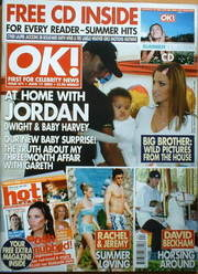 <!--2003-06-17-->OK! magazine - Jordan Katie Price and Dwight and Harvey co