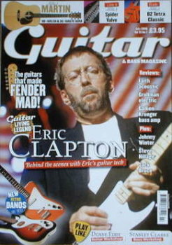 Guitar & Bass magazine - Eric Clapton cover (July 2008)