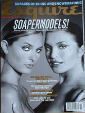 <!--1996-11-->Esquire magazine - Tracy Shaw & Tina Hobley cover (November 1