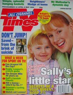 <!--1994-04-30-->TV Times magazine - Emma Collinge and Sally Whittaker cove