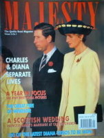 <!--1993-01-->Majesty magazine - Prince Charles and Princess Diana cover (January 1993 - Volume 14 No 1)
