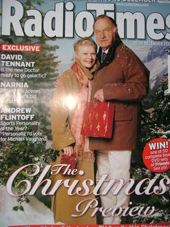 <!--2005-12-10-->Radio Times magazine - Judi Dench and Geoffrey Palmer cove