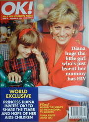 <!--1996-10-20-->OK! magazine - Princess Diana cover (20 October 1996 - Iss