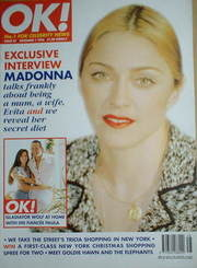 <!--1996-12-01-->OK! magazine - Madonna cover (1 December 1996 - Issue 37)