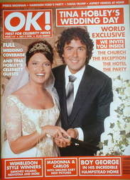 <!--1998-07-03-->OK! magazine - Tina Hobley wedding cover (3 July 1998 - Is