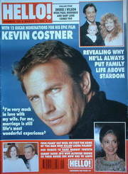 <!--1991-03-02-->Hello! magazine - Kevin Costner cover (2 March 1991 - Issu