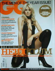 <!--2004-10-->British GQ magazine - October 2004 - Heidi Klum cover