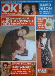 <!--1998-03-27-->OK! magazine - Andie MacDowell cover (27 March 1998 - Issu