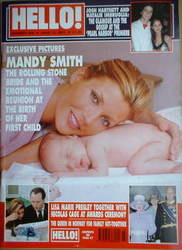 <!--2001-06-12-->Hello! magazine - Mandy Smith cover (12 June 2001 - Issue