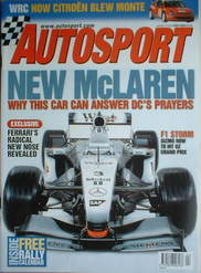 Autosport magazine - McLaren MP4-17 cover (24 January 2002)