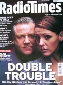 <!--2005-10-08-->Radio Times magazine - Ray Winstone and Suranne Jones cove