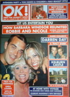<!--1998-08-21-->OK! magazine - Robbie Williams, Nicole Appleton and Barbara Windsor cover (21 August 1998 - Issue 124)