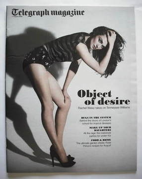 <!--2009-08-01-->Telegraph magazine - Rachel Weisz cover (1 August 2009)