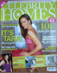Celebrity Homes magazine - Tara Palmer-Tomkinson cover (June 2004)