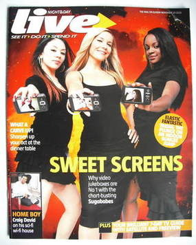 <!--2005-11-20-->Live magazine - Sugababes cover (20 November 2005)