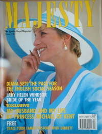 <!--1992-07-->Majesty magazine - Princess Diana cover (July 1992 - Volume 1