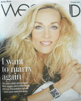 Weekend magazine - Jerry Hall cover (22 August 2009)