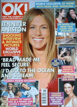 <!--2006-04-18-->OK! magazine - Jennifer Aniston cover (18 April 2006 - Iss