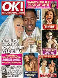 <!--2008-05-20-->OK! magazine - Mariah Carey wedding cover (20 May 2008 - I