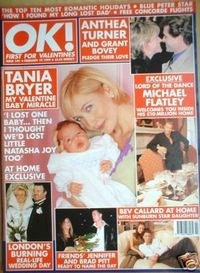 <!--1999-02-19-->OK! magazine - Tania Bryer cover (19 February 1999 - Issue