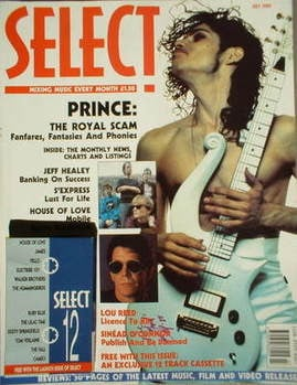 SELECT magazine - Prince cover (July 1990 - Issue 1)