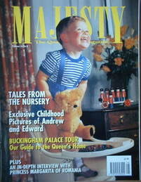 <!--1993-08-->Majesty magazine - Prince Andrew cover (August 1993 - Volume
