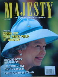 <!--1993-07-->Majesty magazine - Queen Elizabeth II cover (July 1993 - Volu