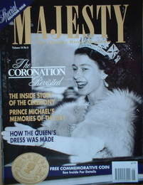 <!--1993-06-->Majesty magazine - Queen Elizabeth II cover (June 1993 - Volu