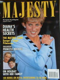 <!--1993-03-->Majesty magazine - Princess Diana cover (March 1993 - Volume