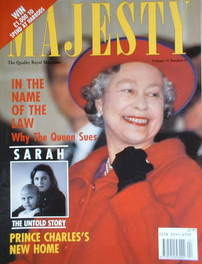 <!--1993-04-->Majesty magazine - Queen Elizabeth II cover (April 1993 - Vol